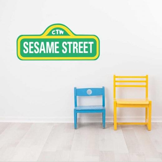 Wall Chimp Sesame Street Sign Wall Sticker