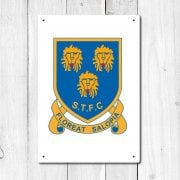 Shrewsbury Retro Football Logo Metal Sign