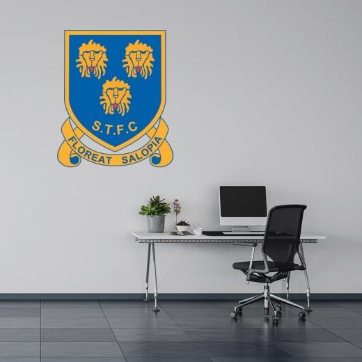 Wall Chimp Shrewsbury Town Football Retro Wall Sticker -Floreat Salopia