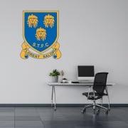 Shrewsbury Town Football Retro Wall Sticker -Floreat Salopia