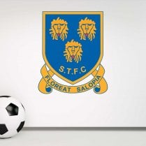Shrewsbury Town Football Retro Wall Sticker -Floreat Salopia