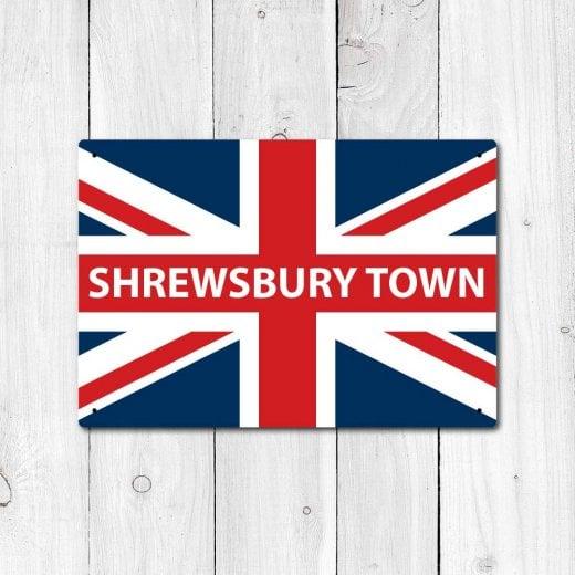 Wall Chimp Shrewsbury Town Great Britain Flag Sign