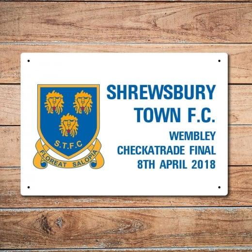 Wall Chimp Shrewsbury Town Wembley Final Metal Sign