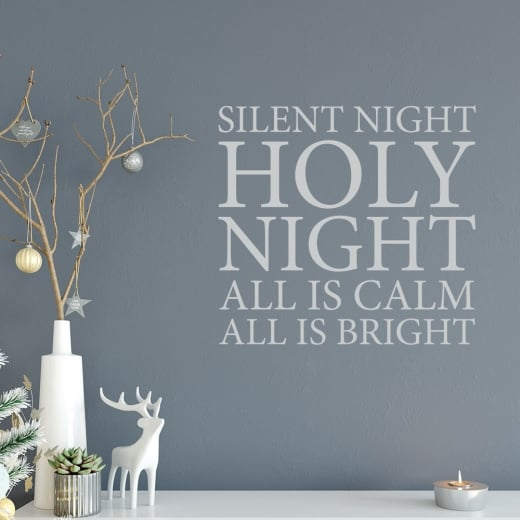 Wall Chimp Silent Night, Holy Night Wall Sticker
