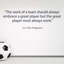 Sir Alex Ferguson Football Quote Wall Sticker