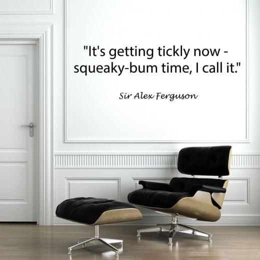 Wall Chimp Sir Alex Ferguson Football Quote Wall Sticker
