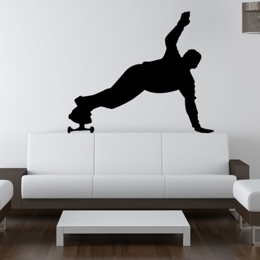 Wall Chimp Skateboarder Handstand Wall Sticker