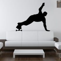 Skateboarder Handstand Wall Sticker