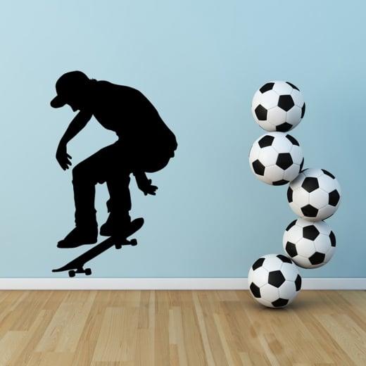 Wall Chimp Skateboarder Jump Wall Sticker