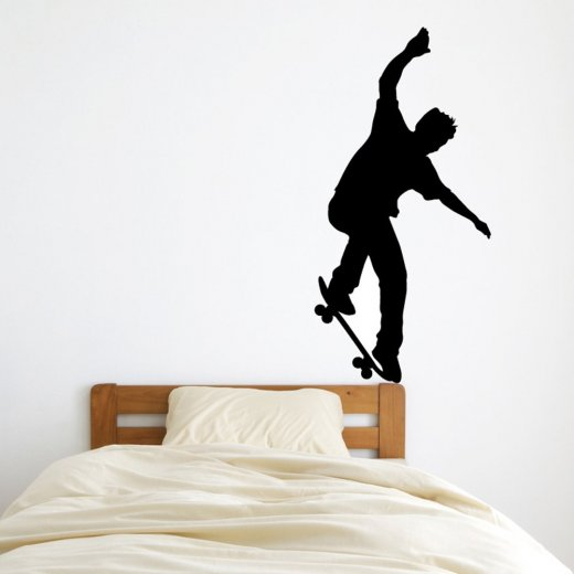 Wall Chimp Skateboarding Trick Wall Sticker