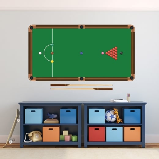 Wall Chimp Snooker Table Printed Wall Sticker