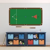 Snooker Table Printed Wall Sticker