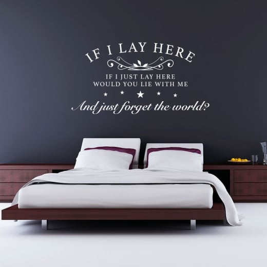 Wall Chimp Snow Patrol If I Lay Here Wall Sticker