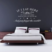 Snow Patrol If I Lay Here Wall Sticker