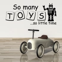 So Many Toys Wall Sticker Quote