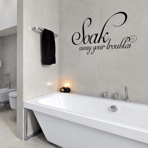 Wall Chimp Soak Away Your Troubles Wall Sticker Quote