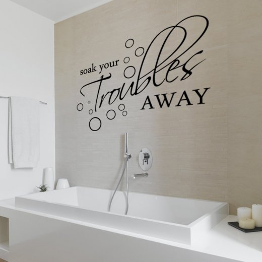 Wall Chimp Soak Your Troubles Away Wall Sticker Quote