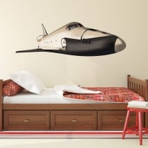 Space Shuttle Printed Wall Sticker