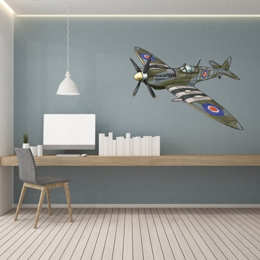 Wall Chimp Spitfire Printed Wall Sticker
