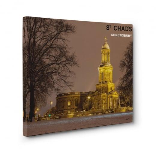 Wall Chimp St Chads Church - Shrewsbury Canvas Print