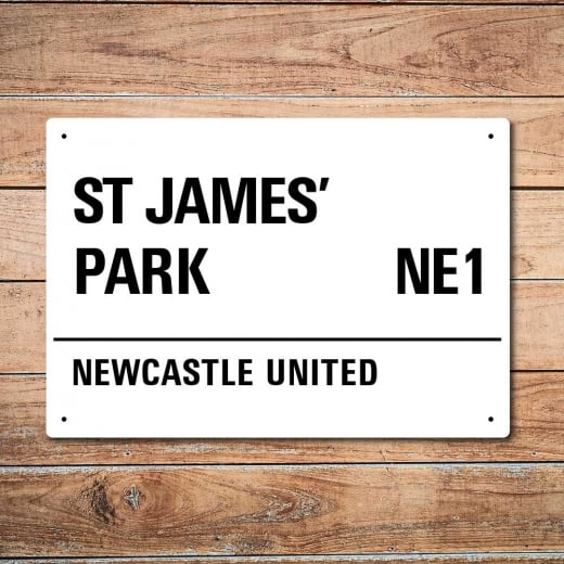 Wall Chimp St James' Park, Newcastle United Metal Sign