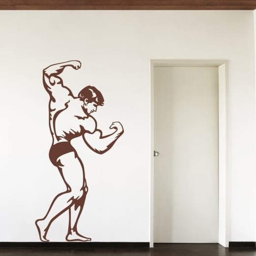 Wall Chimp Standing Bodybuilder Wall Sticker
