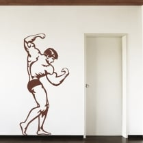 Standing Bodybuilder Wall Sticker