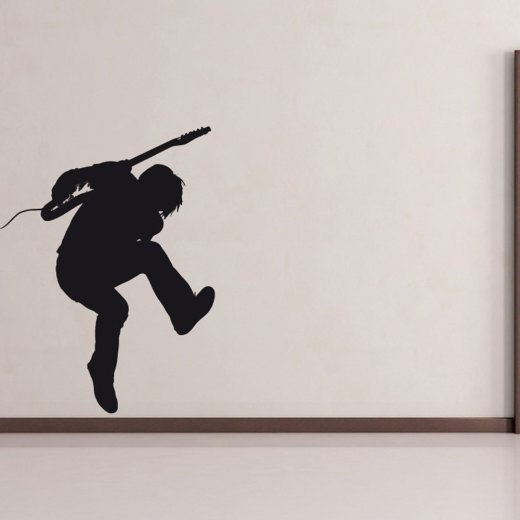 Wall Chimp Standing Guitar Solo Wall Sticker