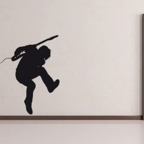 Standing Guitar Solo Wall Sticker