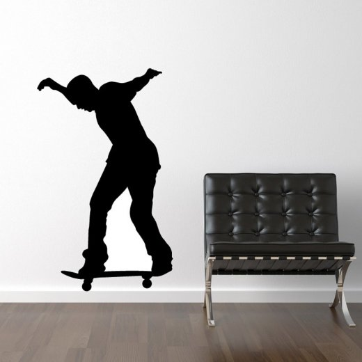 Wall Chimp Standing Skateboarder Wall Sticker