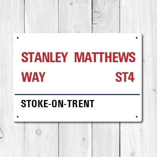 Wall Chimp Stanley Matthews Way Metal Sign