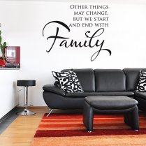 Starts With Family Wall Sticker Quote
