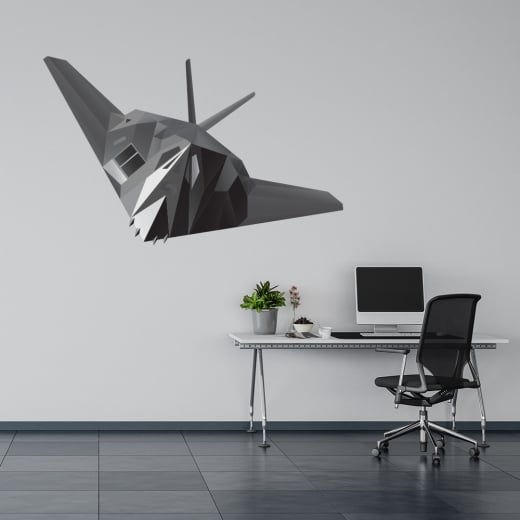 Wall Chimp Stealth Bomber Printed Wall Sticker