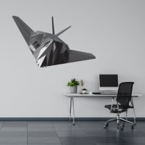 Stealth Bomber Printed Wall Sticker