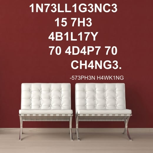 Wall Chimp Stephen Hawking Intelligence Wall Sticker