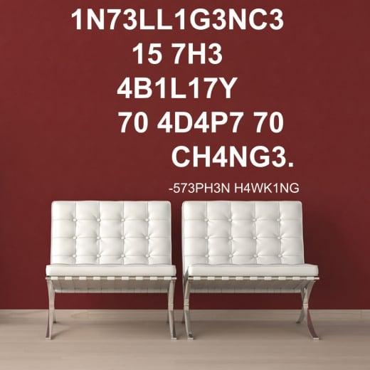 Wall Chimp Stephen Hawking Intelligence Wall Sticker