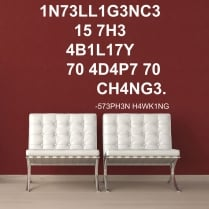 Stephen Hawking Intelligence Wall Sticker