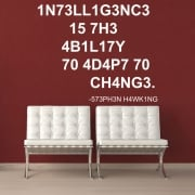 Stephen Hawking Intelligence Wall Sticker