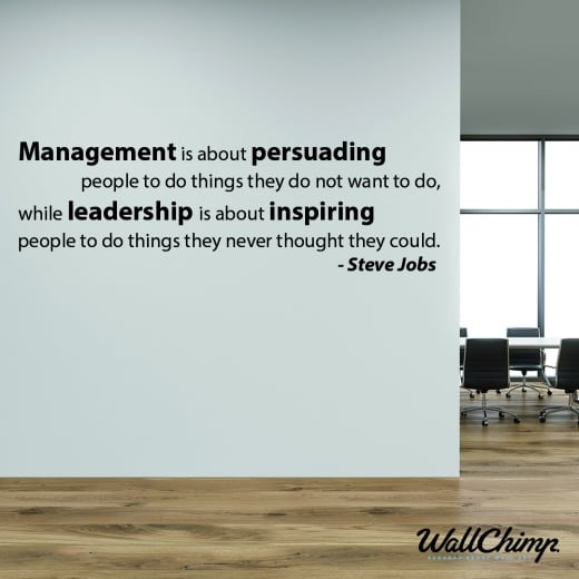 Wall Chimp Steve Jobs Leadership Motivational Quote Wall Sticker
