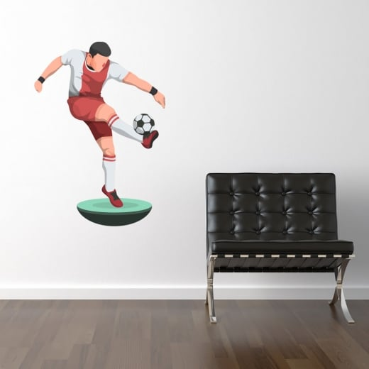 Wall Chimp Subbuteo Football Player Printed Wall Sticker