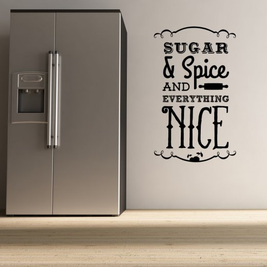 Wall Chimp Sugar and Spice Wall Sticker Quote