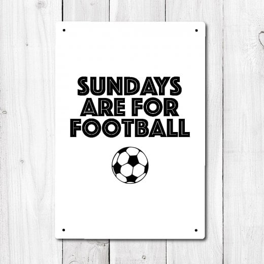 Wall Chimp Sundays Are For Football Metal Sign