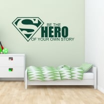 Superman Be The Hero Wall Sticker