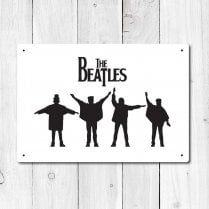 The Beatles Metal Sign