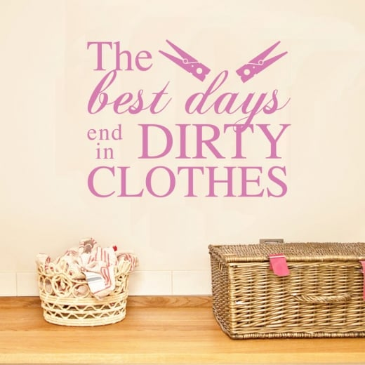 Wall chimp the best days end in dirty clothes wall sticker