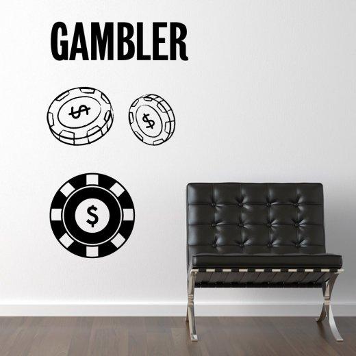 Wall Chimp The Gambler Wall Sticker