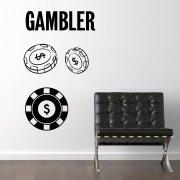 The Gambler Wall Sticker