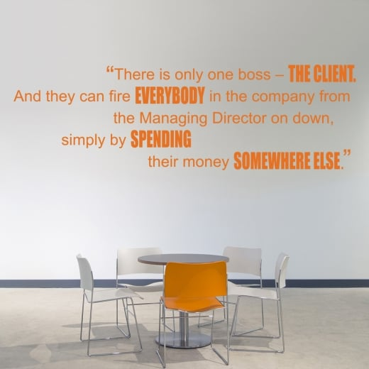 Wall Chimp There Is Only One Boss Motivational Quote Wall Sticker