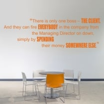 There Is Only One Boss Motivational Quote Wall Sticker
