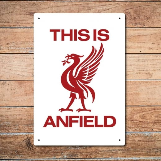 Wall Chimp This Is Anfield, Liverpool Metal Sign